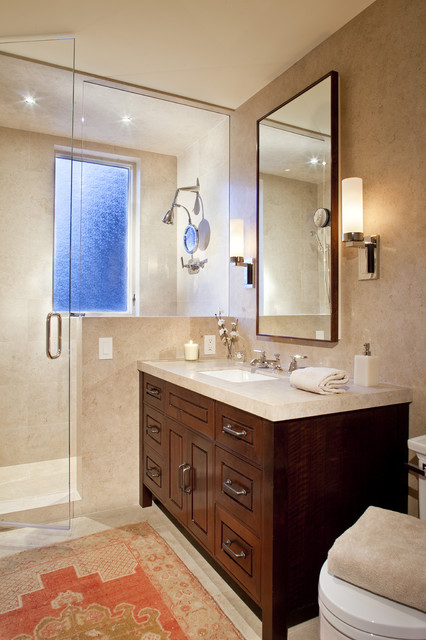 Condo Bath contemporary bathroom