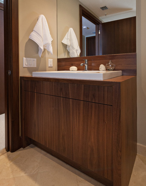 Guest Bath Vanity Contemporary Bathroom