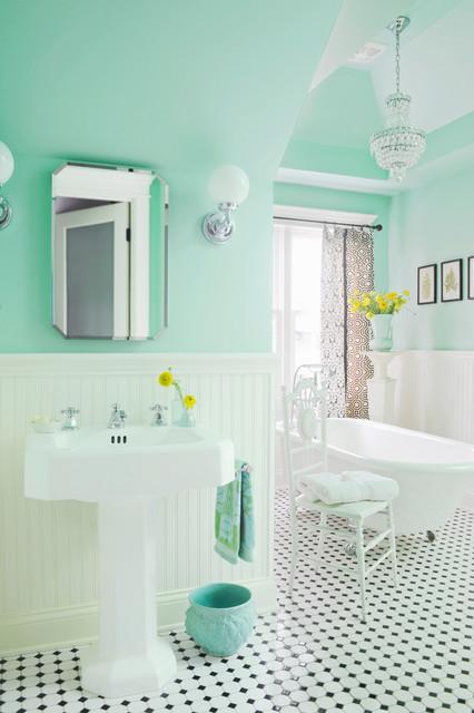 Guest bath vintage inspired victorian-bathroom