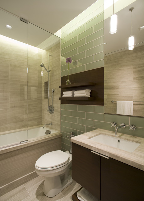 Guest bathroom contemporary bathroom chicago by for Small bathroom design houzz