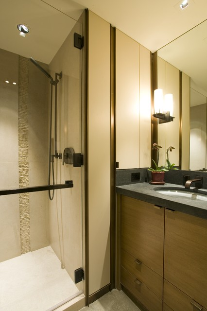 Garret Cord Werner Architects Interior Designers Building Guest Bathroom Contemporary