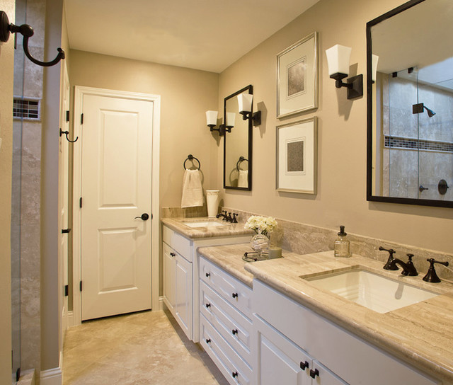 Guest bathroom traditional bathroom houston by for Traditional bathroom ideas photo gallery