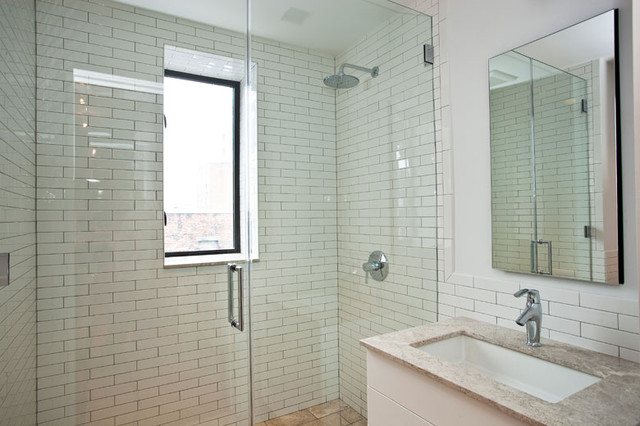 Marvelous Guest Bathroom   New York City Greenwich Village Loft Luxury Renovation  Modern Bathroom