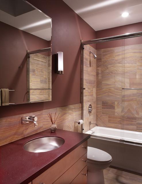 Guest bathroom modern bathroom phoenix by patricia for Modern guest bathroom