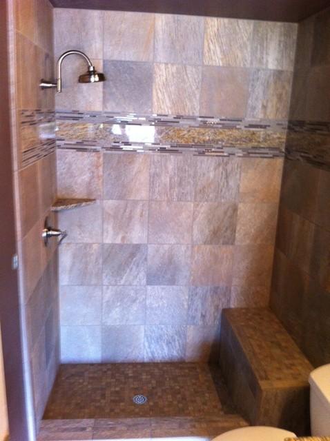 Guest Bathroom Remodel, Custom Shower, and Custom Medicine Cabinet contemporary-bathroom
