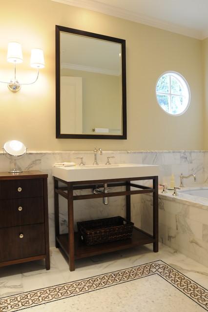 guest bathroom remodel - Rancho Santa Fe, CA eclectic-bathroom