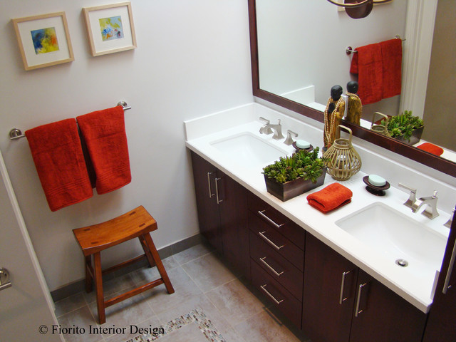 Guest bathroom san jose ca contemporary bathroom other metro by fiorito interior design Kitchen design center san jose