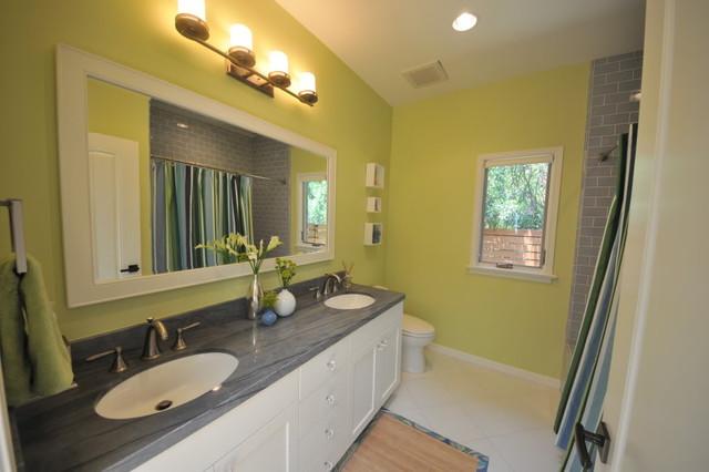 Guest Bathroom Transitional Bathroom Los Angeles By Susan Deneau Interior Design