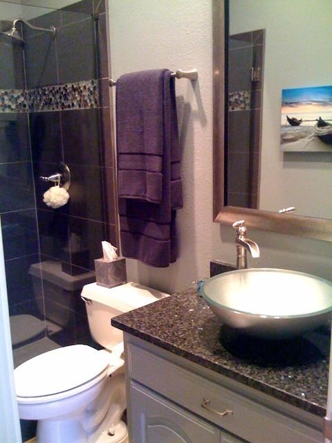 Guest Bathroom Update Contemporary Bathroom Dallas By An Inside View Interior Design Studio
