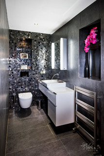 Guest Restroom Contemporary Bathroom West Midlands By Lisa Melvin Design