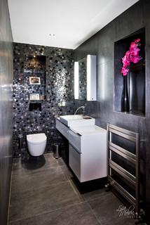 Guest Restroom Contemporary Bathroom West Midlands By Lisa Melvin Design