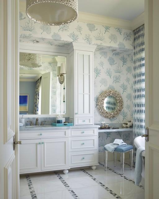 Coastal Style Bathroom: By Brantley