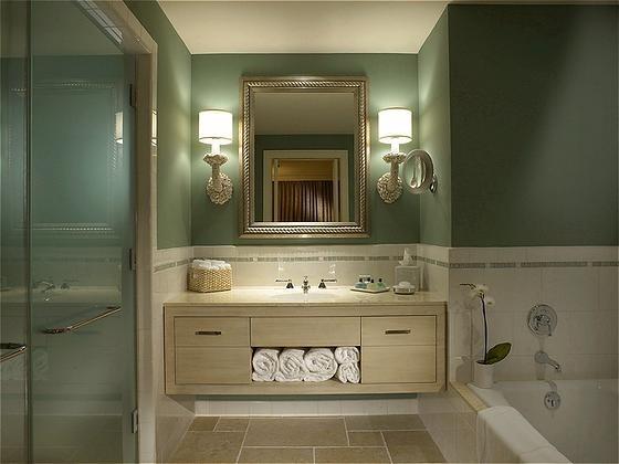 Guestroom Bath while at BAMO, Inc. contemporary-bathroom