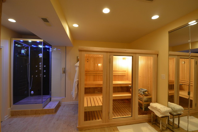 Gym and sauna in the basement laurel md for Building a sauna in the basement