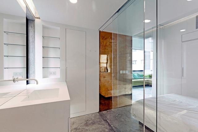 Residence modern bathroom hong kong by rocker lange architects