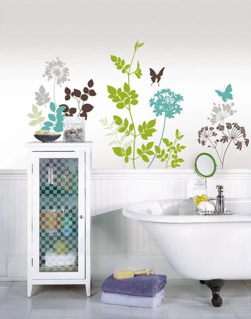 Charming Habitat Wall Decals By WallPops Contemporary Bathroom