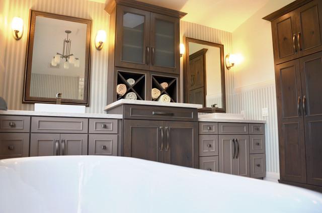 Hacienda Rustic Bathroom Miami By Kabco Kitchens