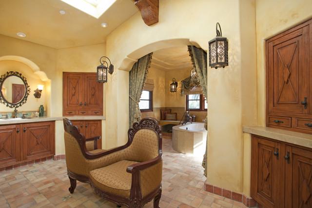 Hacienda Master Bath Mediterranean Bathroom San