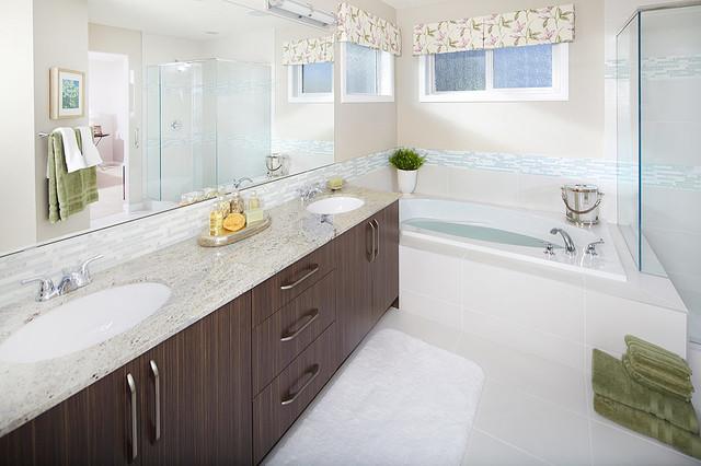 Hadleigh Show Home in Kincora (NW Calgary) contemporary-bathroom