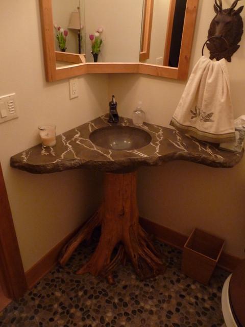 Hagerman Lodge eclectic-bathroom