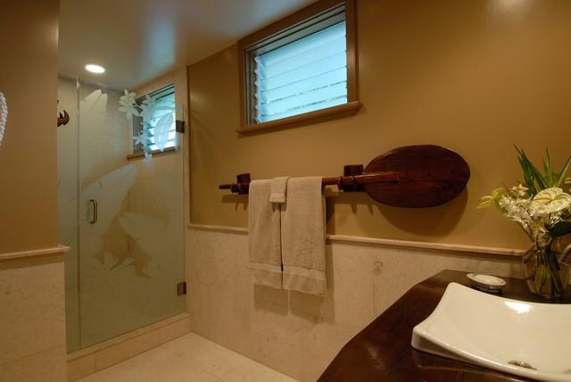 Hale Aina By The Sea - Tropical - Bathroom - Hawaii - by Archipelago Hawaii Luxury Home Designs