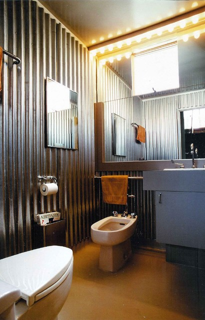 Half Bath contemporary bathroom