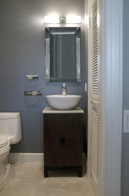 Half bath contemporary bathroom boston by megan meyers interiors Interior design half bathroom