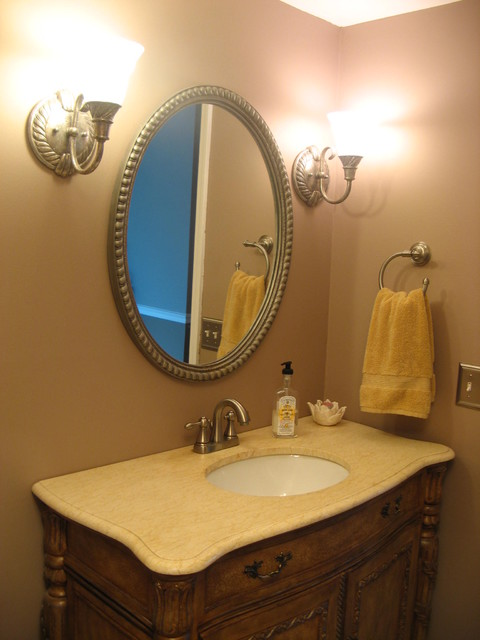 Half Bath Vanity Traditional Bathroom Detroit