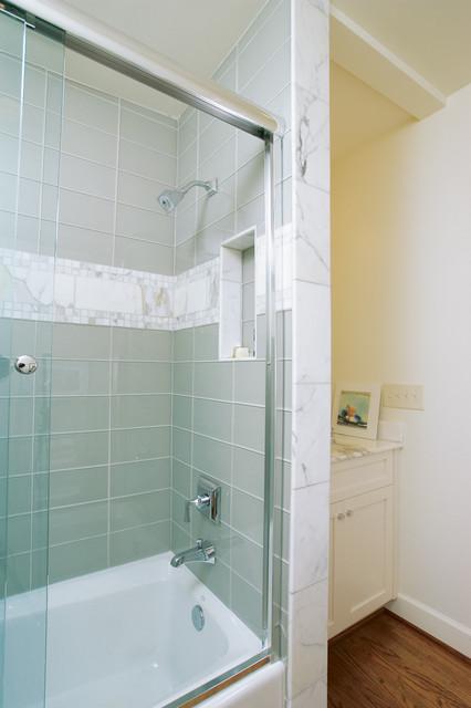 Hall bathroom remodel modern bathroom atlanta by for Hall bath remodel ideas