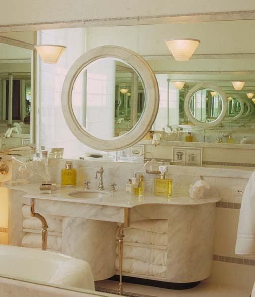 Hall of Mirrors bath vanity. eclectic-bathroom