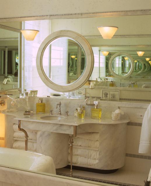 Hall of Mirrors bath vanity. traditional-bathroom