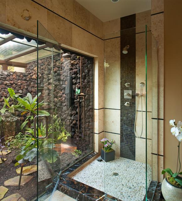 Hallman Master Bath tropical-bathroom