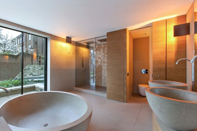 Hampstead contemporary bathroom london by andrew for Home automation shower