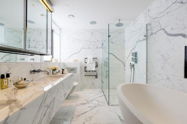 Hampstead villas contemporary bathroom london by for Bathroom interior design london