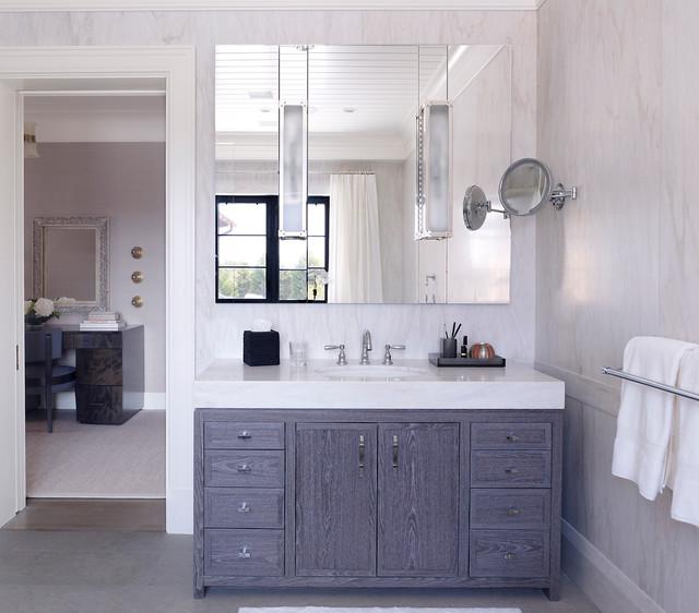 hampton beach house beach style bathroom new york by stephens design group. Black Bedroom Furniture Sets. Home Design Ideas