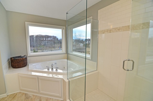 Bathroom Jacuzzi Decorating Ideas corner jacuzzi tub | houzz