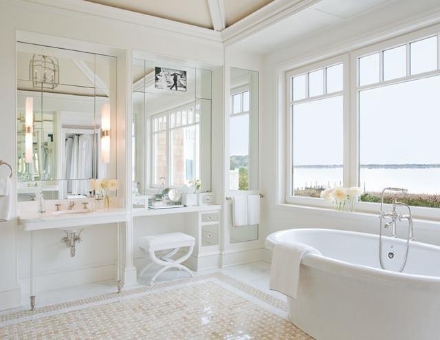 hamptons ny ii maritim badezimmer new york von alice black interiors. Black Bedroom Furniture Sets. Home Design Ideas