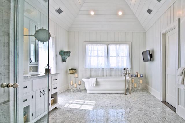 Hamptons Style Bathroom Beach New