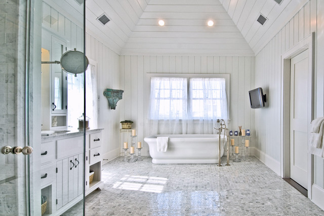 Hamptons Style Bathroom Maritim Badezimmer New York