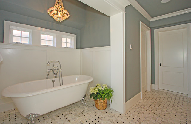traditional-bathroom Beach Style Bathroom And Tile Designs on black and white traditional bathroom floor tile, beach bathroom ideas, seafoam green and grey bathroom tile,