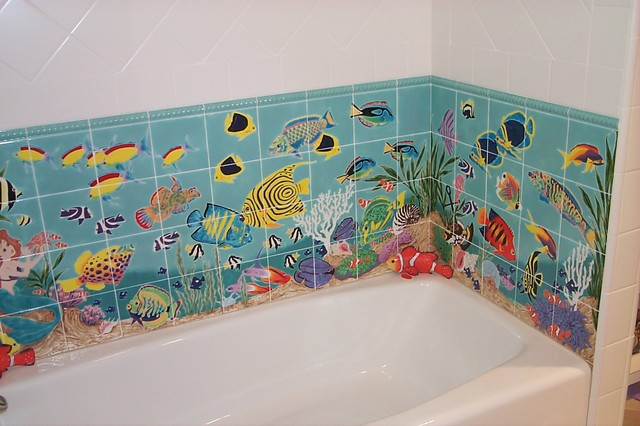 Hand Painted Tile Bathroom Los Angeles By Howe