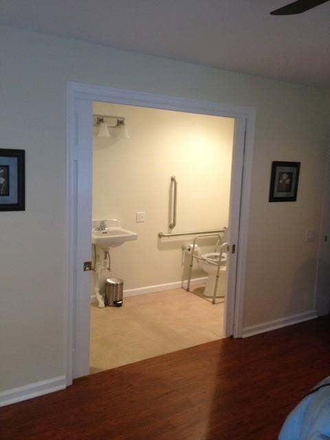 Handicap Accesible Addition traditional-bathroom