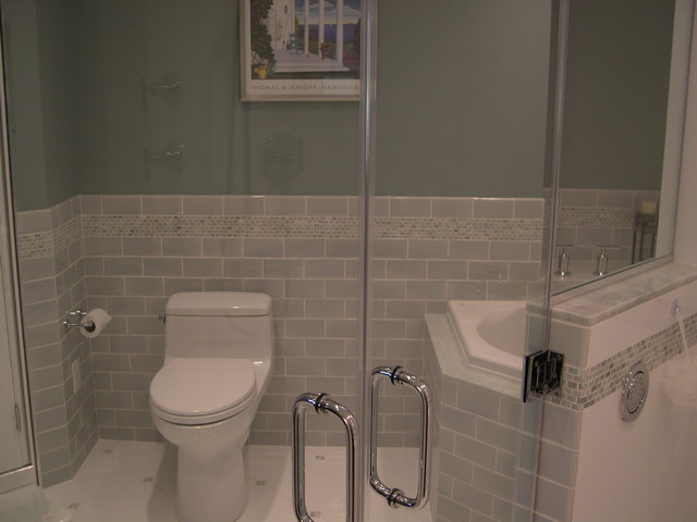 Handicap accessible bathroom eclectic