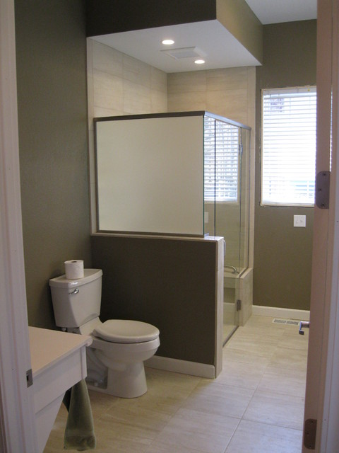 Handicap accessible bathrooms traditional bathroom for Wheelchair accessible bathroom designs