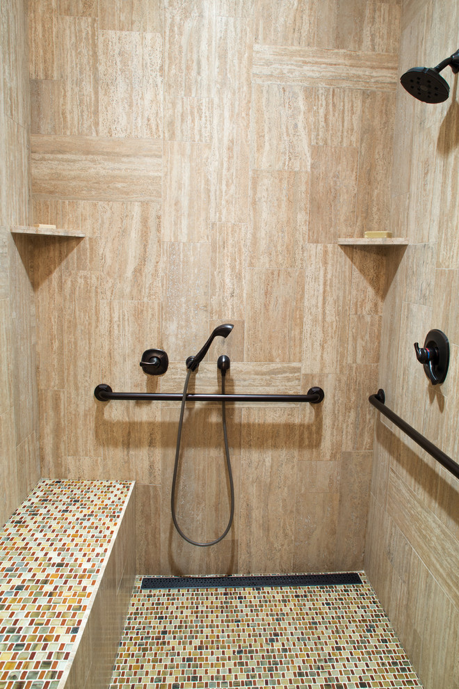 Handicap Accessible Shower - Contemporary - Bathroom ... on home designs for fireplaces, home designs for seniors, home designs for fitness,