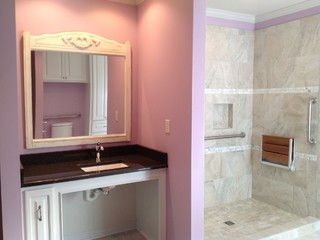 Handicap remodel and addition - Contemporary - Bathroom - jackson - by Cedarcrest Remodeling and ...