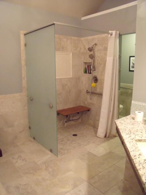 Handicap Roll In Shower Transitional Bathroom