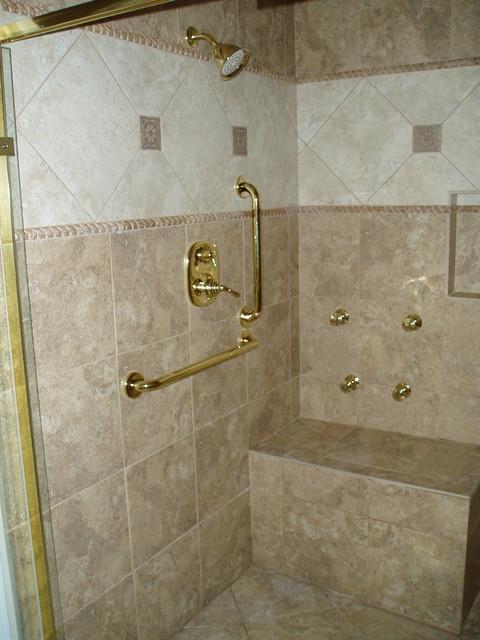 handicap shower traditional bathroom nashville by