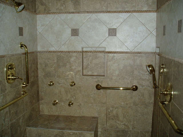 Handicap shower traditional bathroom nashville by for How to build a wheelchair accessible shower