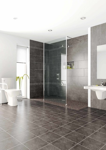 Handicapped accessible universal design showers modern bathroom cleveland by innovate - Handicapped accessible bathroom plans ...